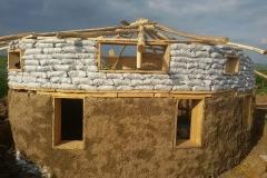 casa cu acoperis reciprocal
