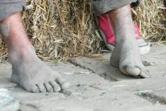 cu piciorul