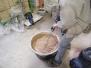Aplicare plăci prefabricate din lut și tencuială de lut